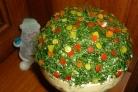 Новогодний салат с печенью трески