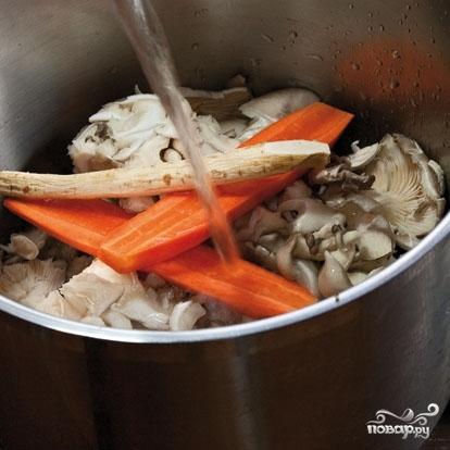 Суп из вешенок - фото шаг 2
