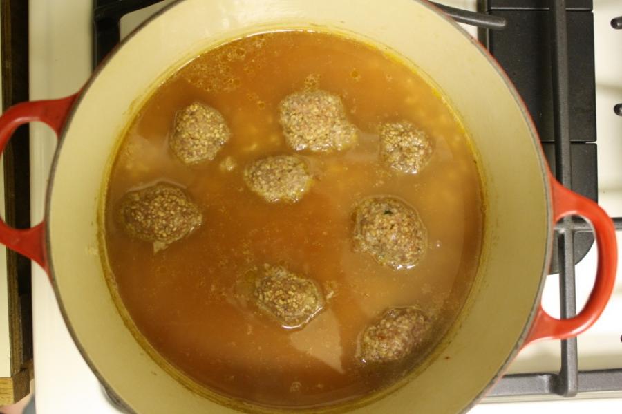 Рисовый суп с фрикадельками  - фото шаг 3