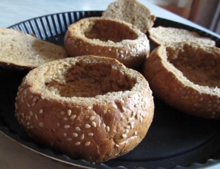 Картофельный суп в хлебе - фото шаг 4