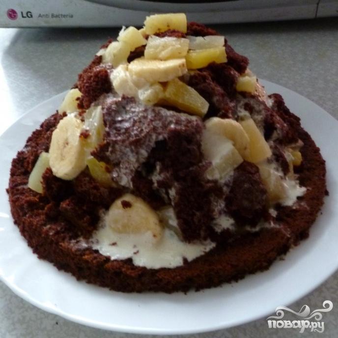 """Торт """"Шоколадный Панчо""""  - фото шаг 3"""