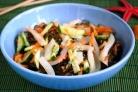 Салат с морской капустой и кальмарами
