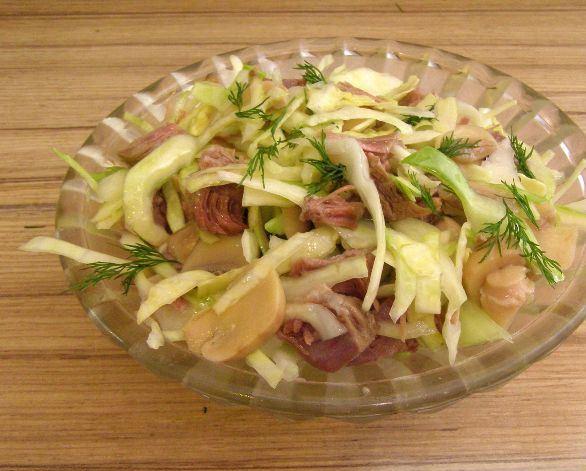 Салат из капусты и грибов - фото шаг 3