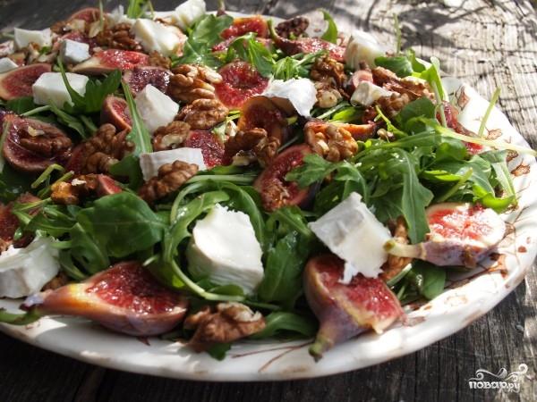 рецепт салата с грецкими орехами сыром