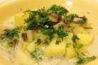 Картошка тушеная с грибами и сметаной
