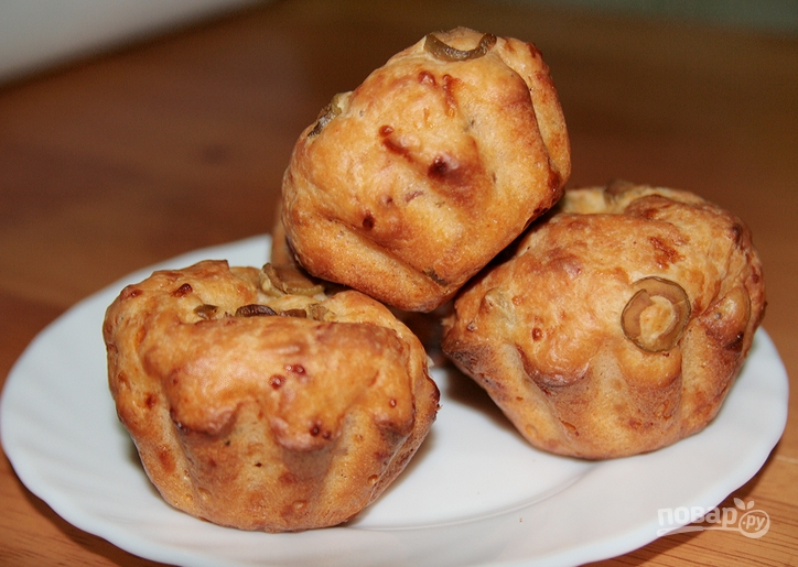 рецепт закусочные булочки с сыром беконом оливками