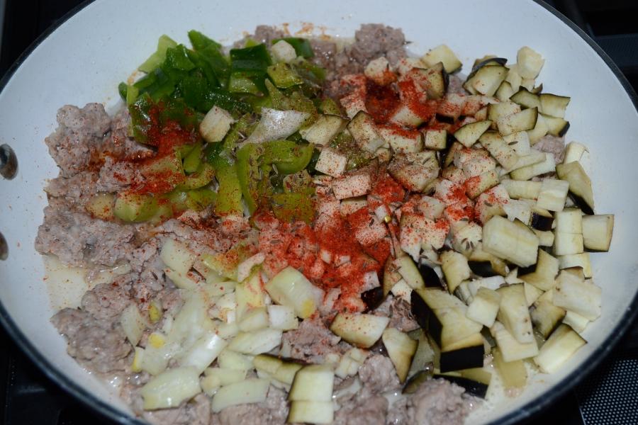 Рагу мясное с рисом и овощами - фото шаг 3