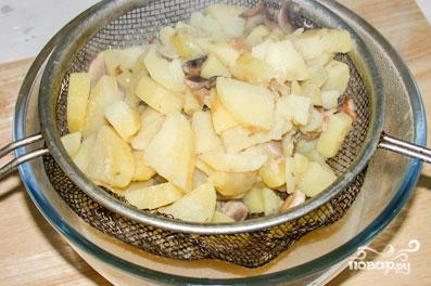 Крем-суп из шампиньонов с картошкой - фото шаг 4