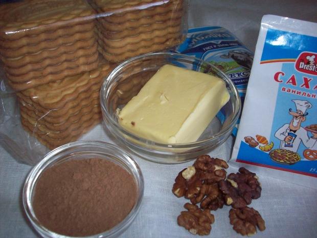 """Рецепт Пирожное """"Картошка"""" из печенья и сгущенки"""