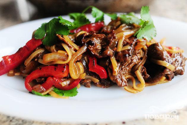 Говядина с перцем по азиатски
