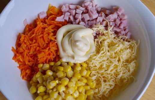 Салат для тарталеток с ветчиной - фото шаг 5