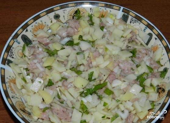 Пирог со свининой и луком - фото шаг 4