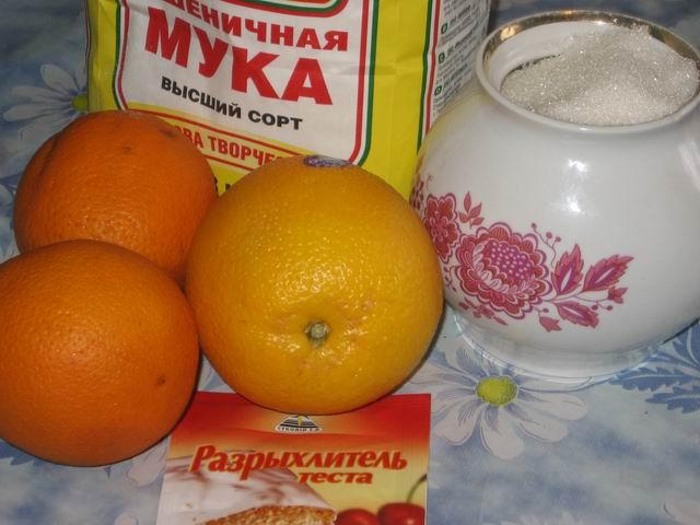 Рецепт Шарлотка с апельсинами в мультиварке