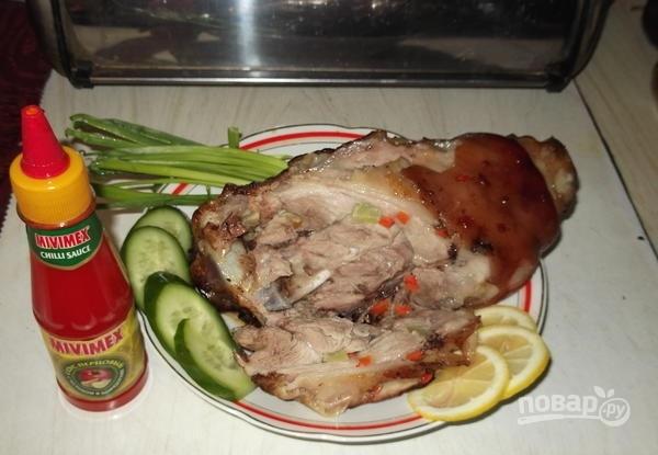 Как приготовить свиную рульку в духовке в фольге пошаговый рецепт с