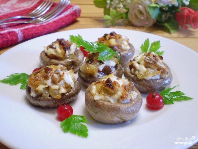 грибы шампиньоны рецепты приготовления в духовке с курицей