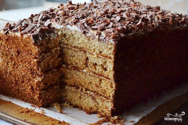 Рецепт Бисквитный медовик без масла