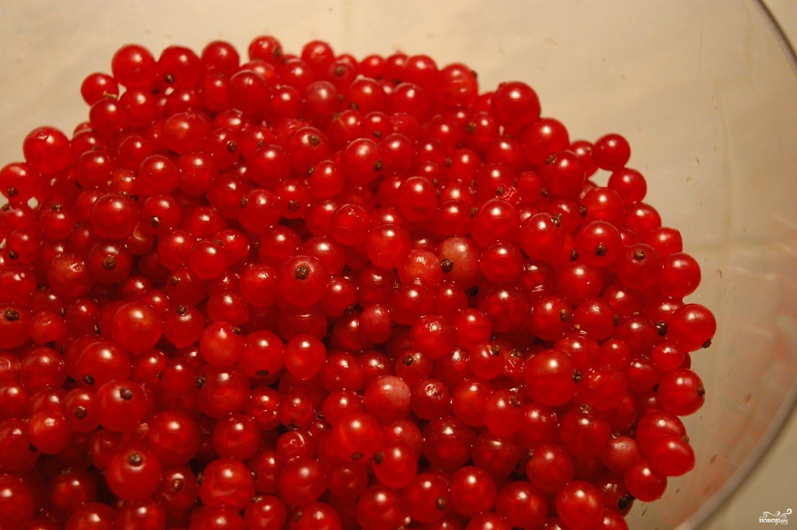 Рецепт Красная смородина протертая с сахаром
