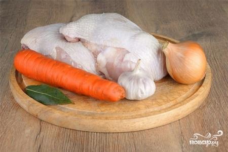 Холодец из курицы без желатина - фото шаг 1