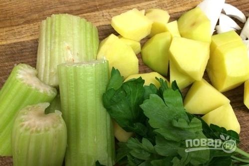 Крем-суп из брокколи с плавленым сыром - фото шаг 1