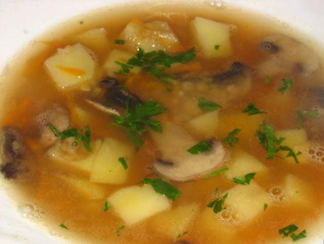 Гороховый суп с грибами рецепт