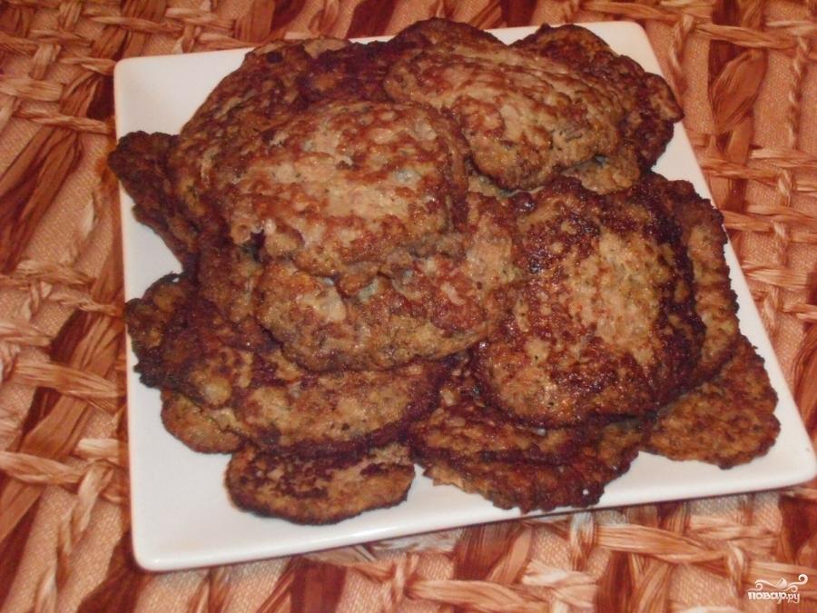 Печёночники из куриной печени пошагово с