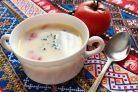Молочный суп с томатами