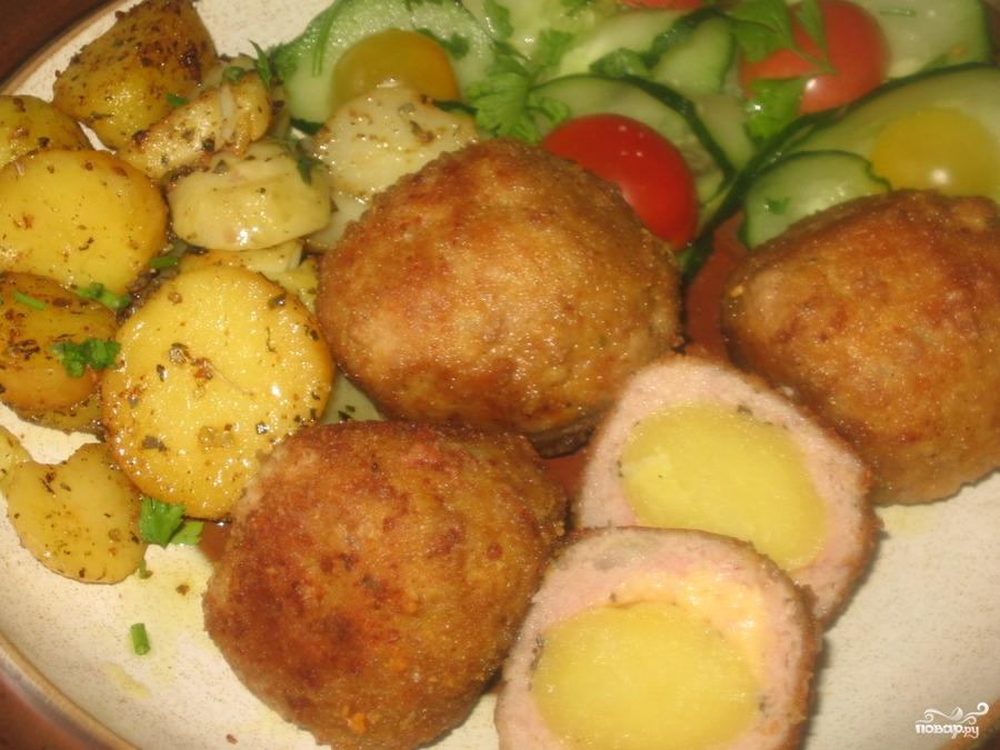 Тефтели в духовке с картошкой пошаговый рецепт с