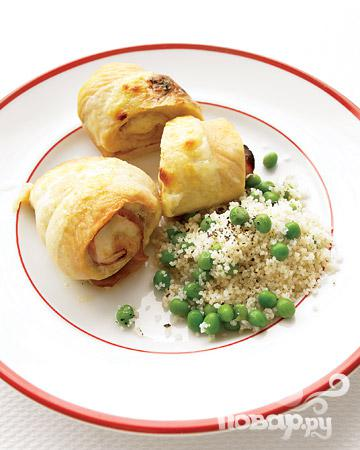 Рецепт Куриные роллы с ветчиной и сыром