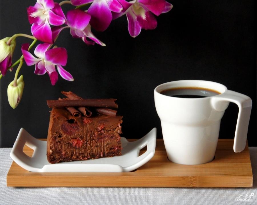 Шоколадный чизкейк с вишней - фото шаг 13