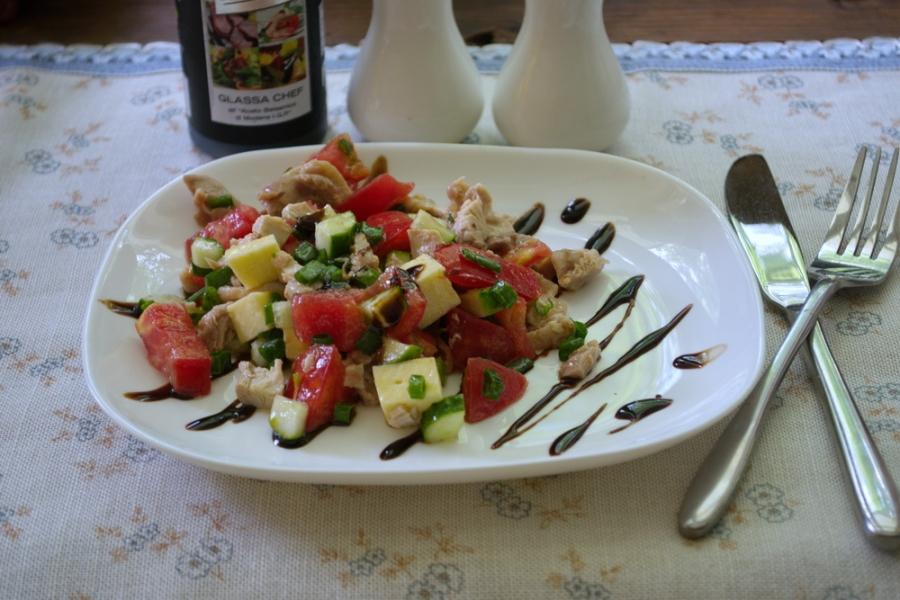 Салат с фетой и курицей - фото шаг 7