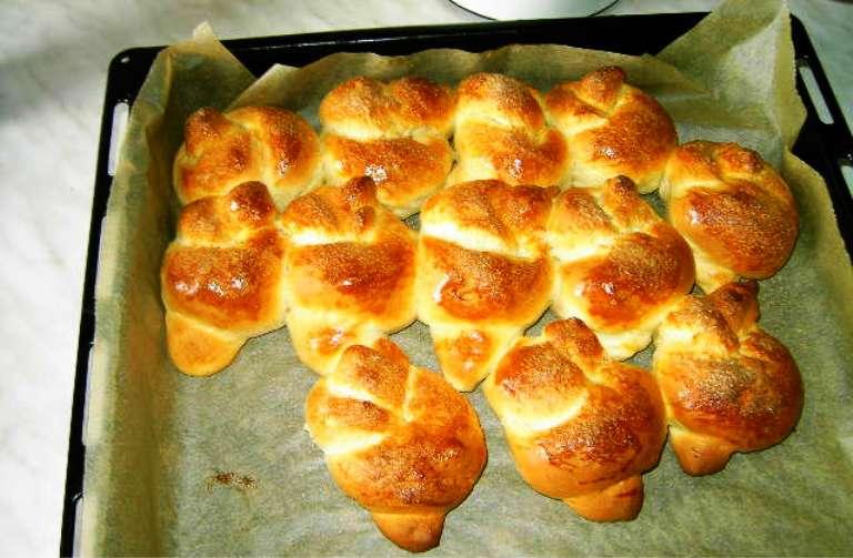 Рецепт булочек из творожного теста