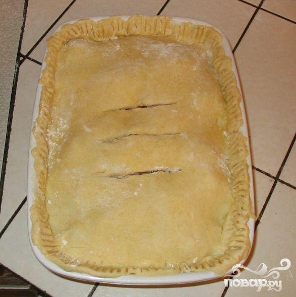 Пирог с курицей и беконом - фото шаг 4