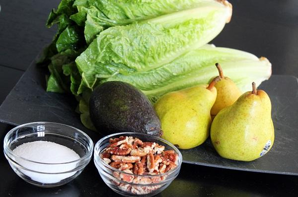 Рецепт Салат с авокадо и грушей