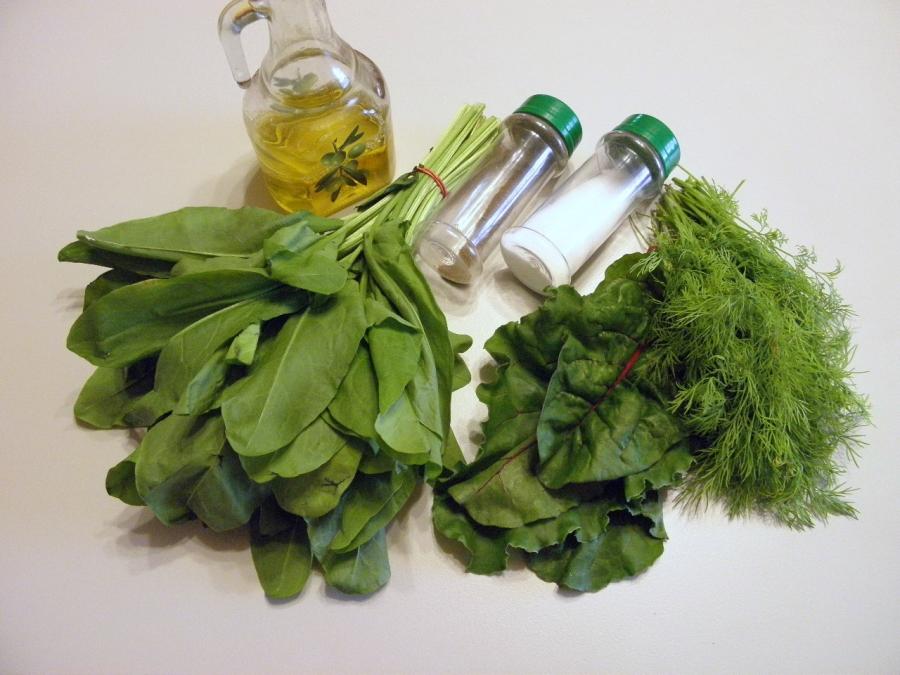 Салат из щавеля - фото шаг 1