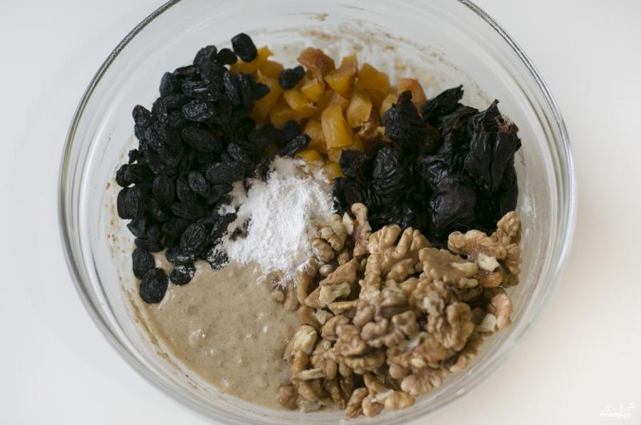 Постная выпечка с сухофруктами - фото шаг 9