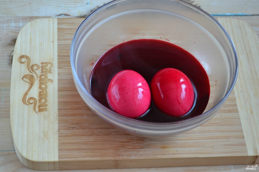 Красивые пасхальные яйца - фото шаг 2