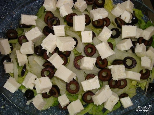 Cалат с фетой и оливками - фото шаг 4