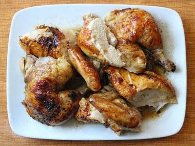 Курица в духовке на банке - фото шаг 4