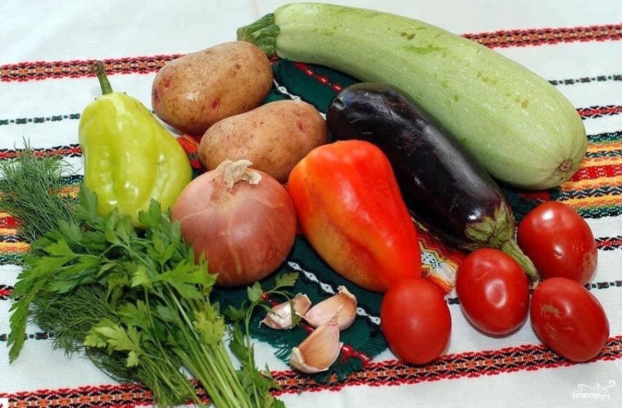 Овощи в горшочке - фото шаг 1