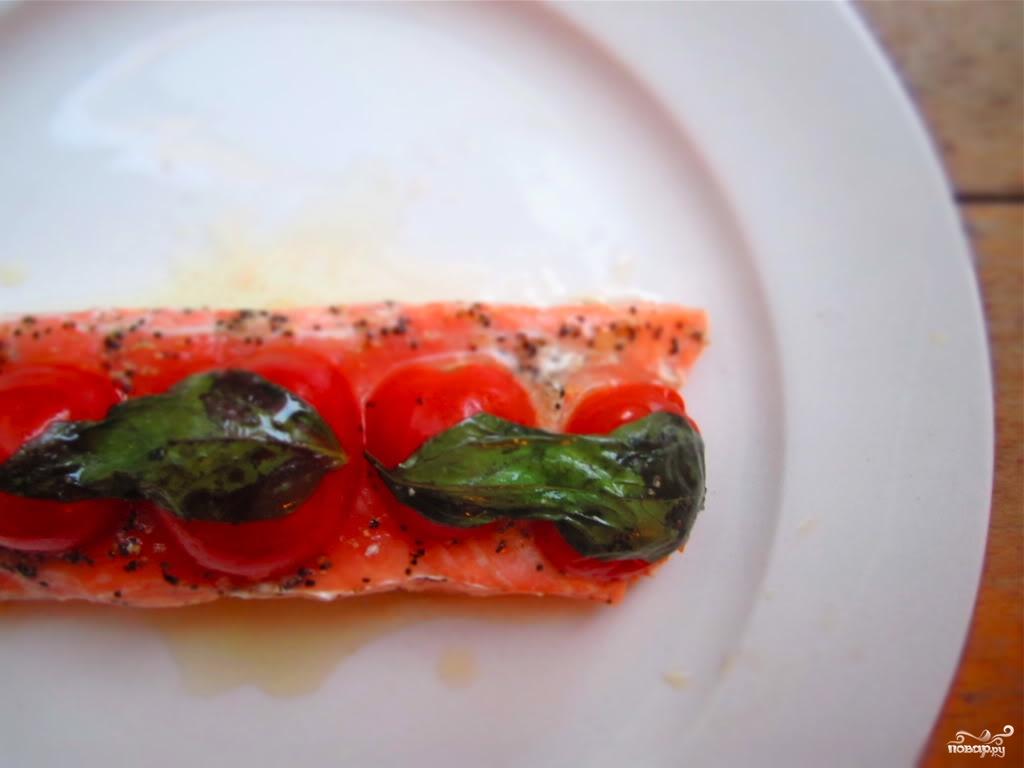 Рецепт Семга с помидорами