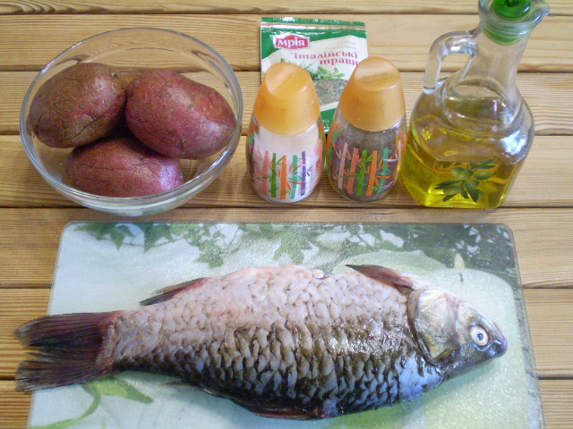 Рецепт Жареная рыба с картошкой