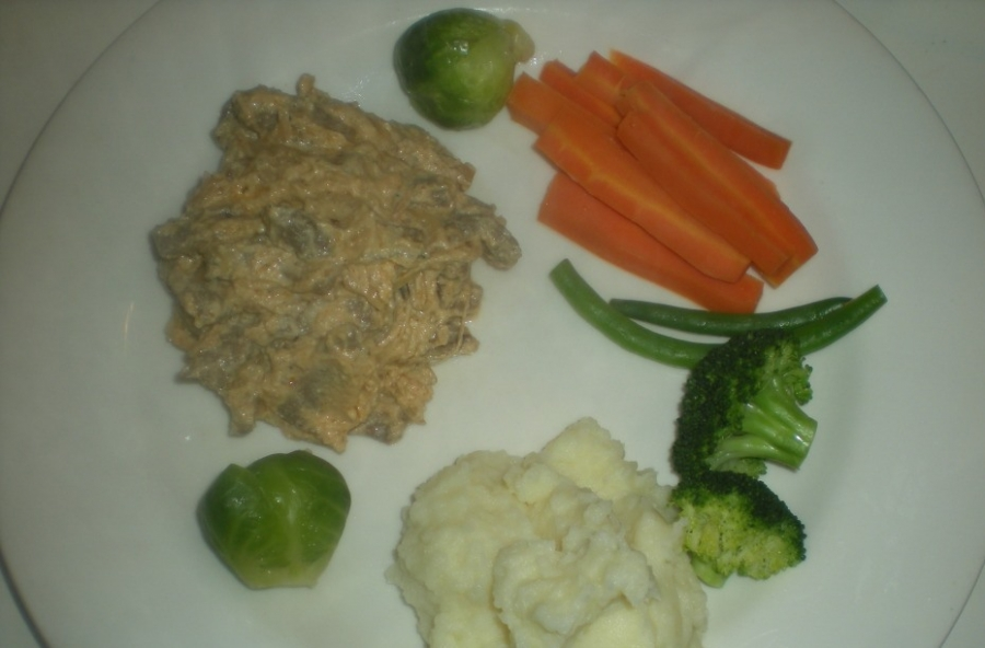 Бефстроганов с овощами - фото шаг 6
