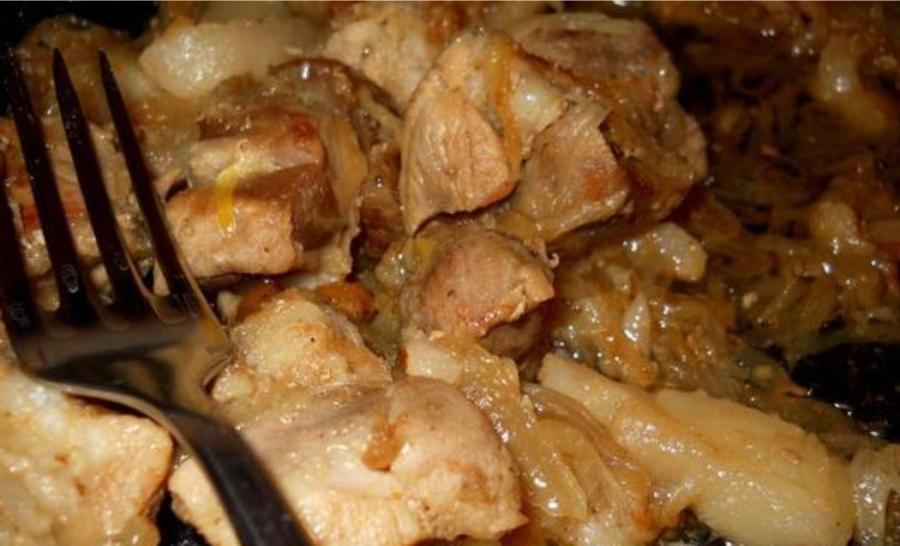 Свинина в вине Пошаговый рецепт с фото  Кушать нет