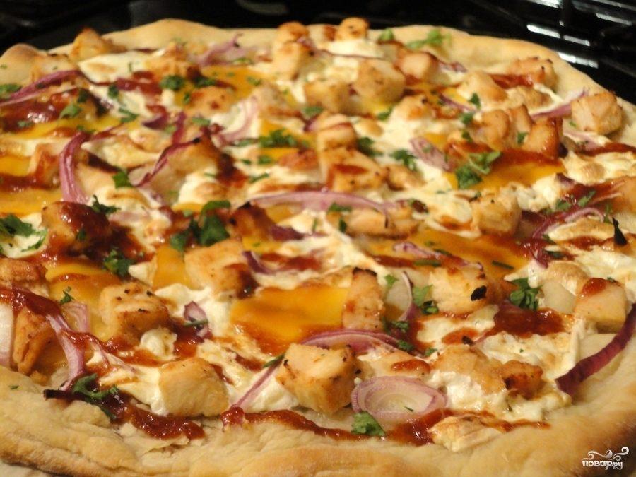 Рецепт Пицца с жареной курицей
