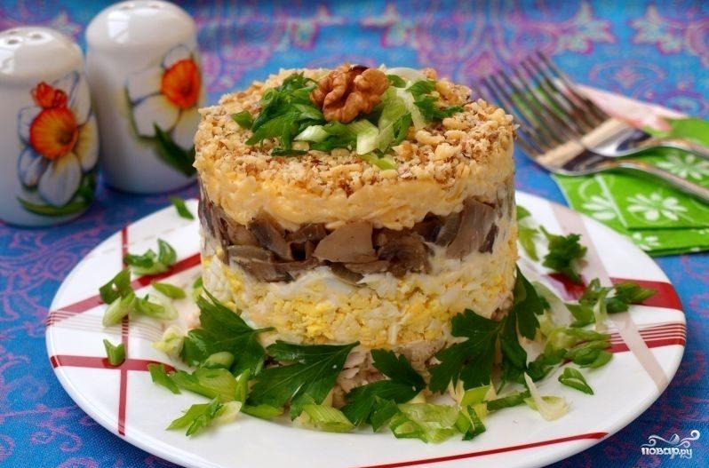 Салат слоеный с курицей и шампиньонами рекомендации