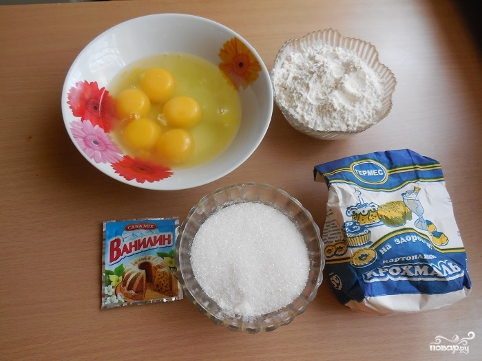 Простой бисквита для торта - фото шаг 1