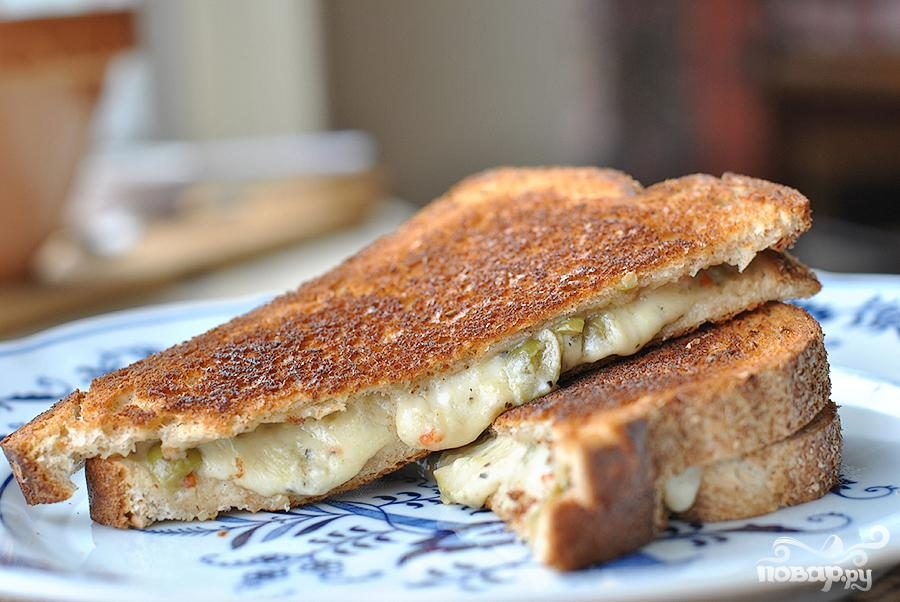 Сэндвичи с оливками и сыром