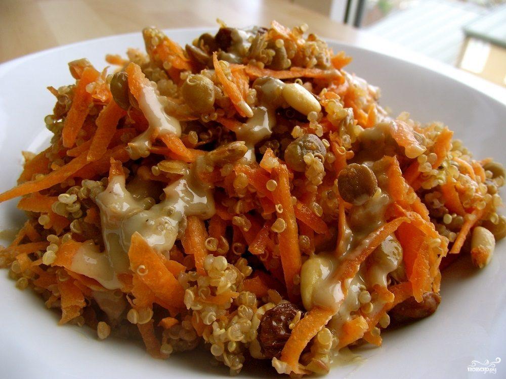 Рецепт Салат из чечевицы с морковью