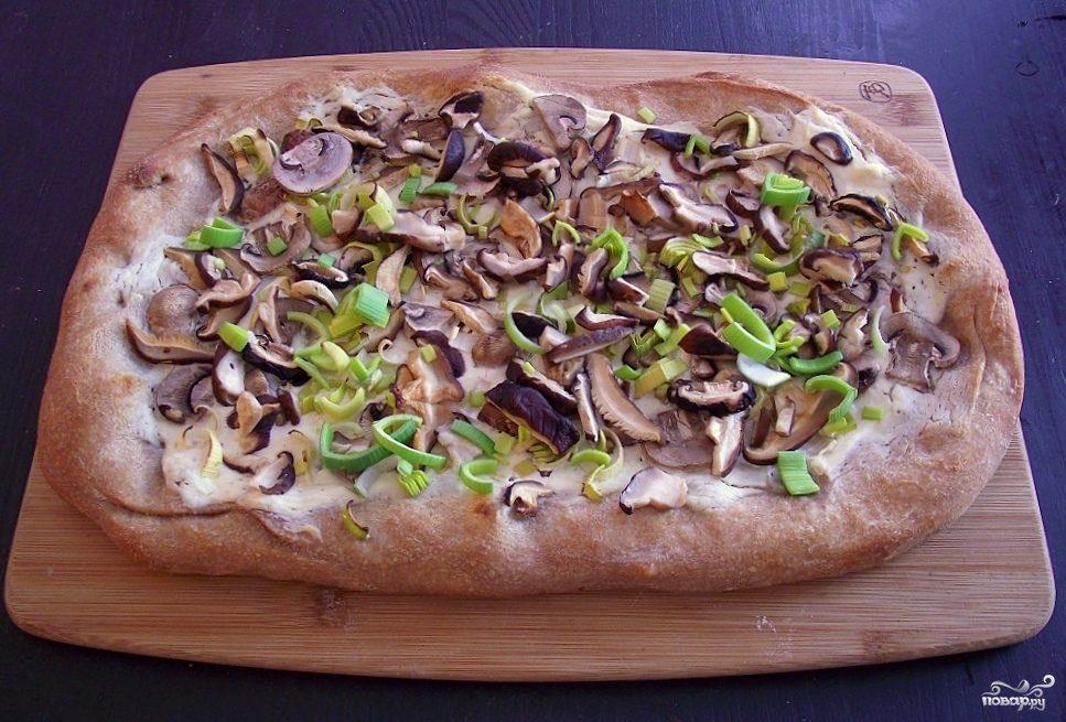 Рецепт Пицца с лесными грибами