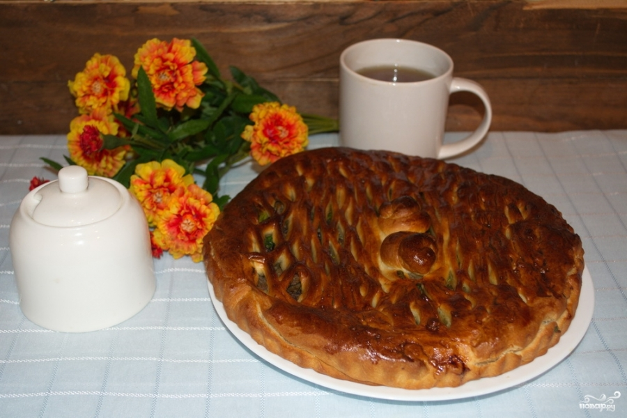 Простой пирог с мясом - фото шаг 7